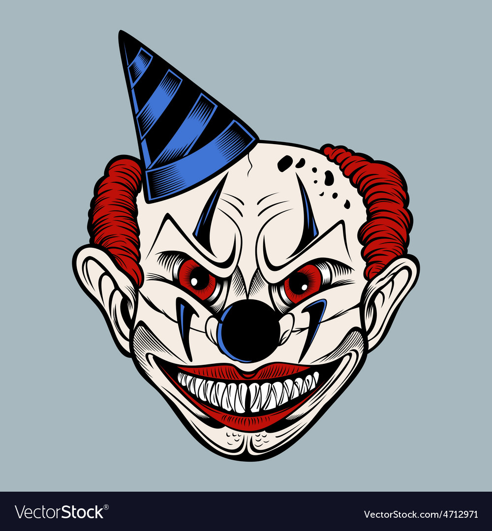 Cartoon scary clown vector   Price: 3 Credit (USD $3)