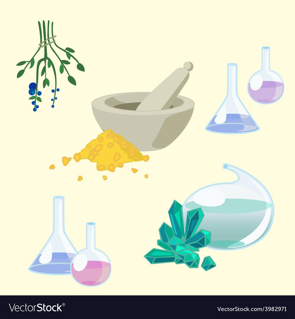 Chemists tools set vector | Price: 1 Credit (USD $1)