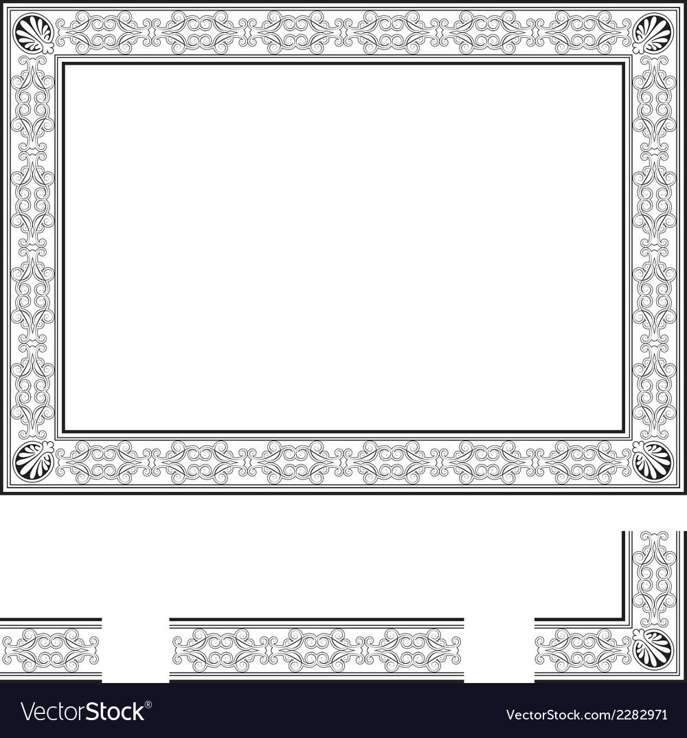 Deco frame vector | Price: 1 Credit (USD $1)