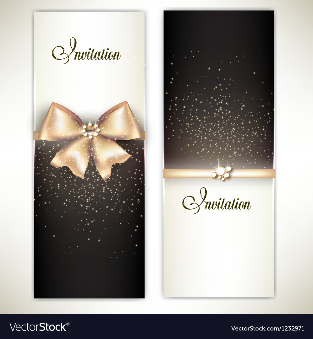 Greeting cards with white bows and copy space vector | Price: 1 Credit (USD $1)