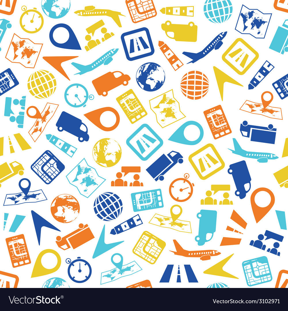 Logistic seamless pattern vector   Price: 1 Credit (USD $1)