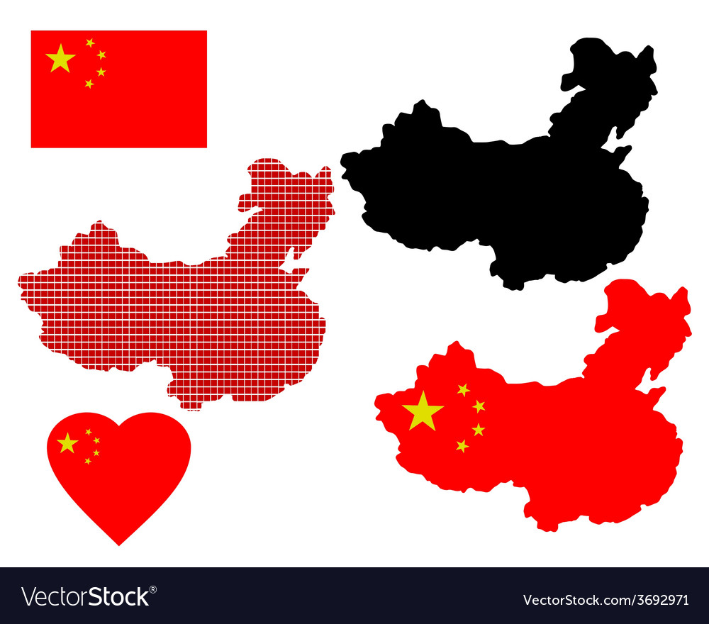 Map china vector | Price: 1 Credit (USD $1)