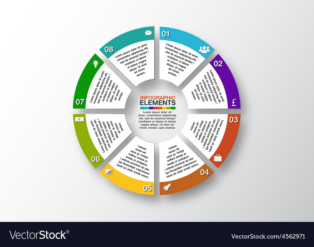 Modern business options banner circle vector | Price: 1 Credit (USD $1)