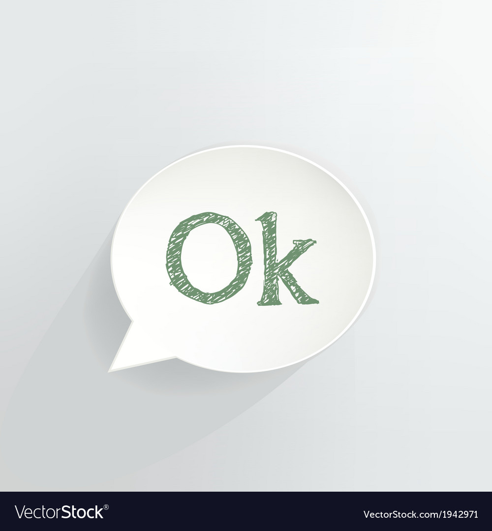 Ok sign vector | Price: 1 Credit (USD $1)