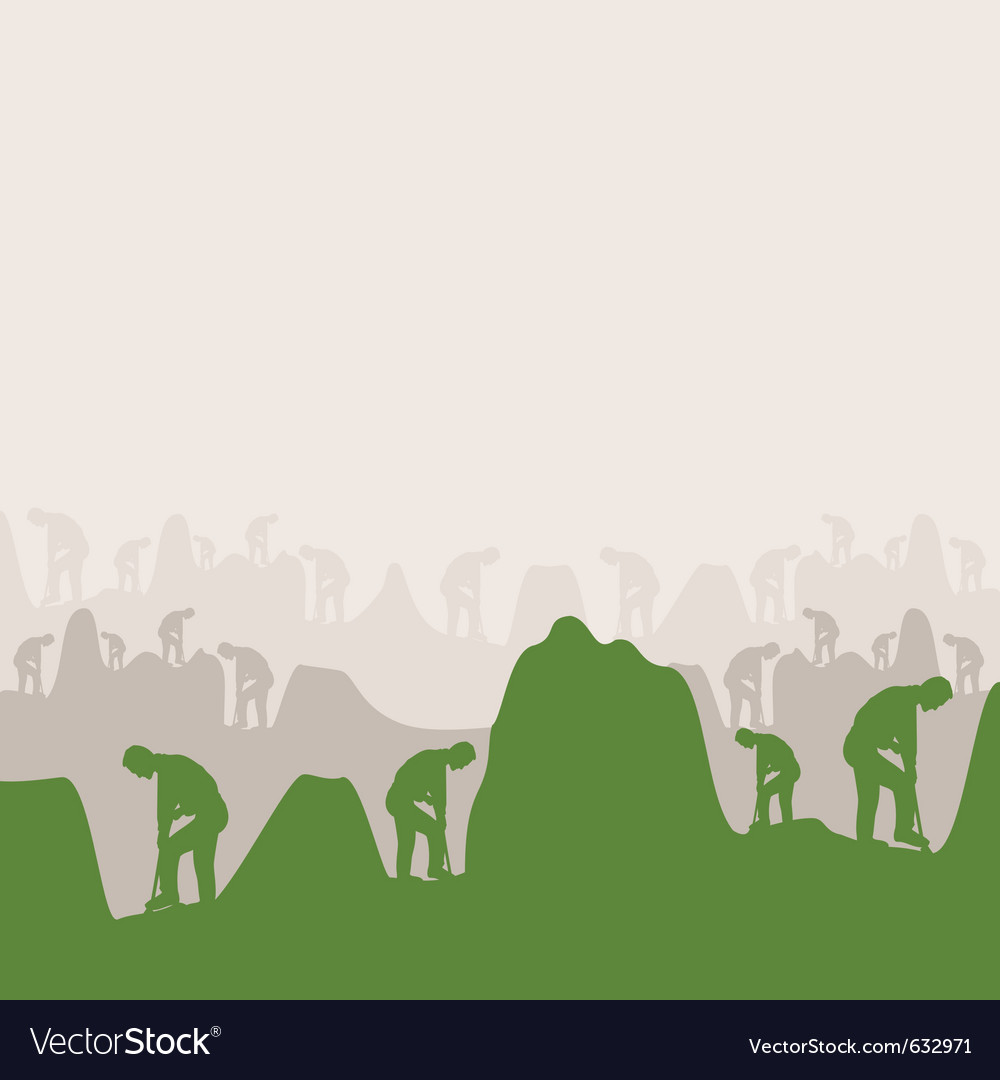 People dig holes on work a vector | Price: 1 Credit (USD $1)