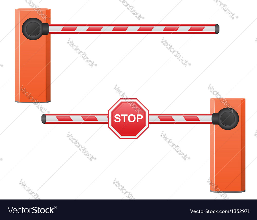 Road barrier 05 vector | Price: 1 Credit (USD $1)