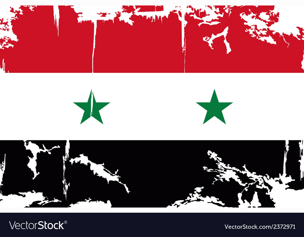 Syrian grunge flag vector | Price: 1 Credit (USD $1)