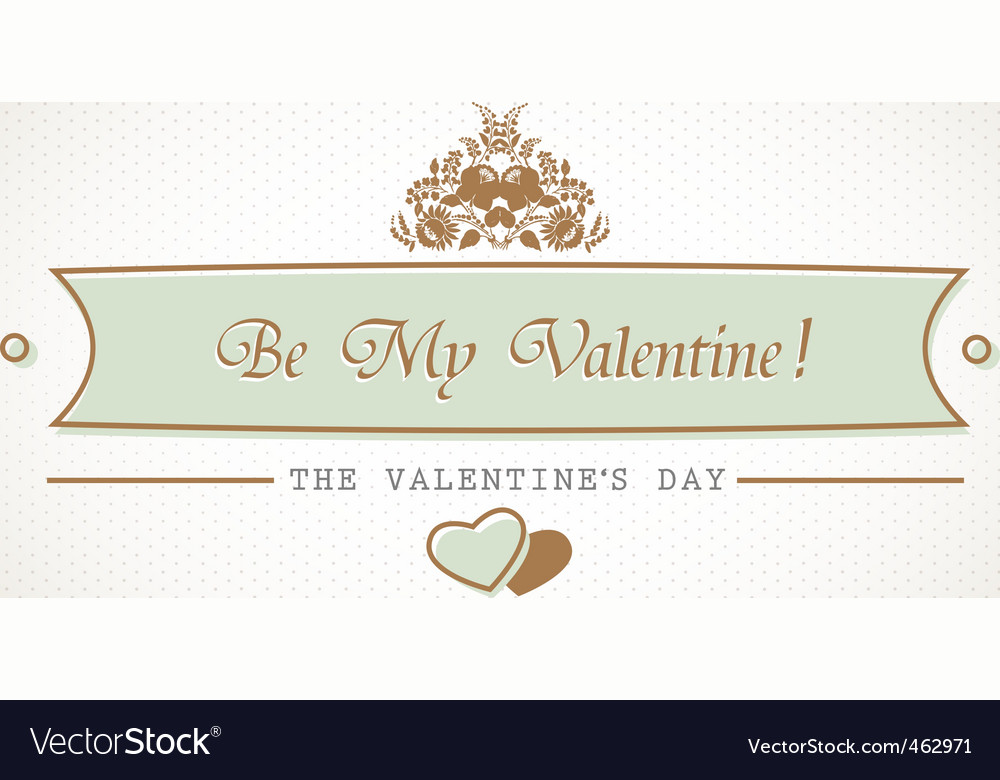 Valentines sign vector | Price: 1 Credit (USD $1)