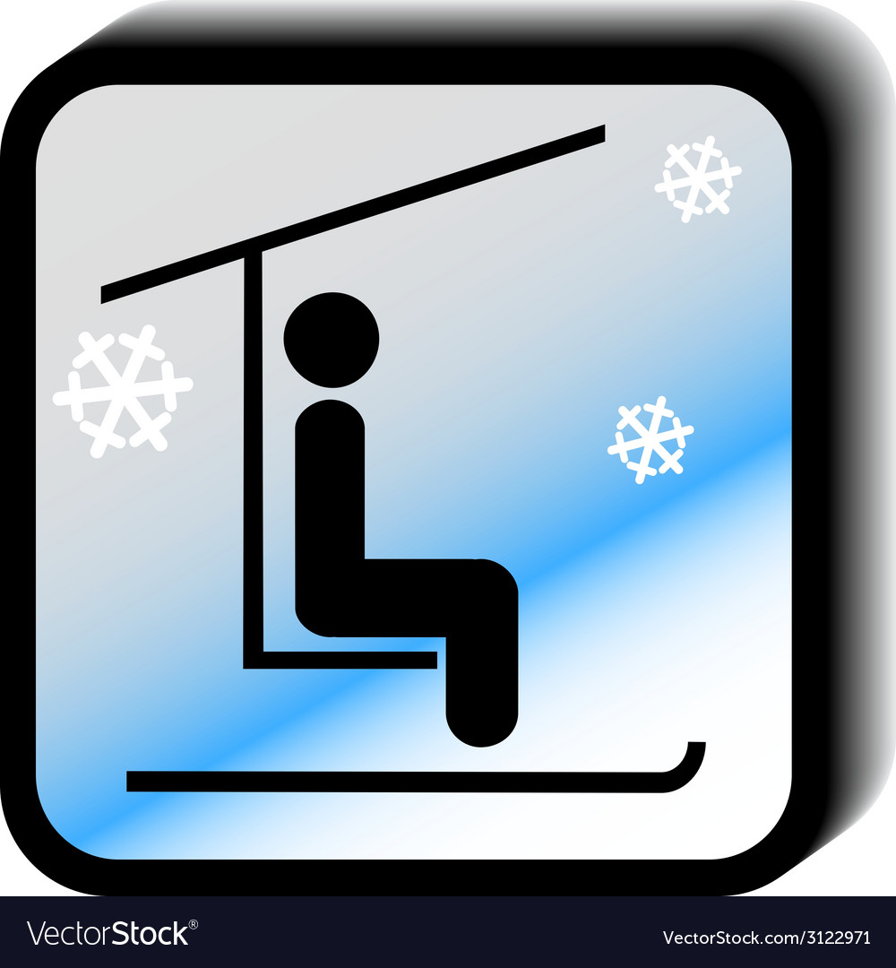 Winter icon lift vector | Price: 1 Credit (USD $1)