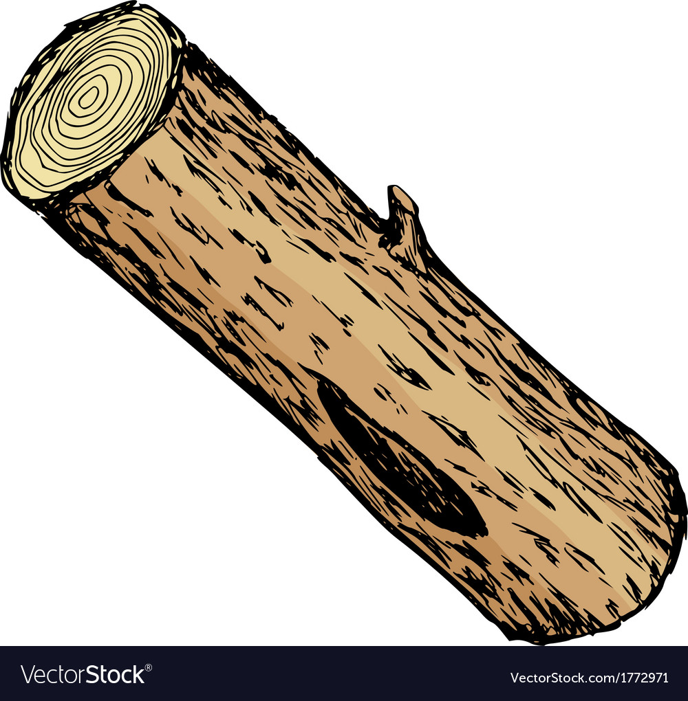 Wood log vector | Price: 1 Credit (USD $1)