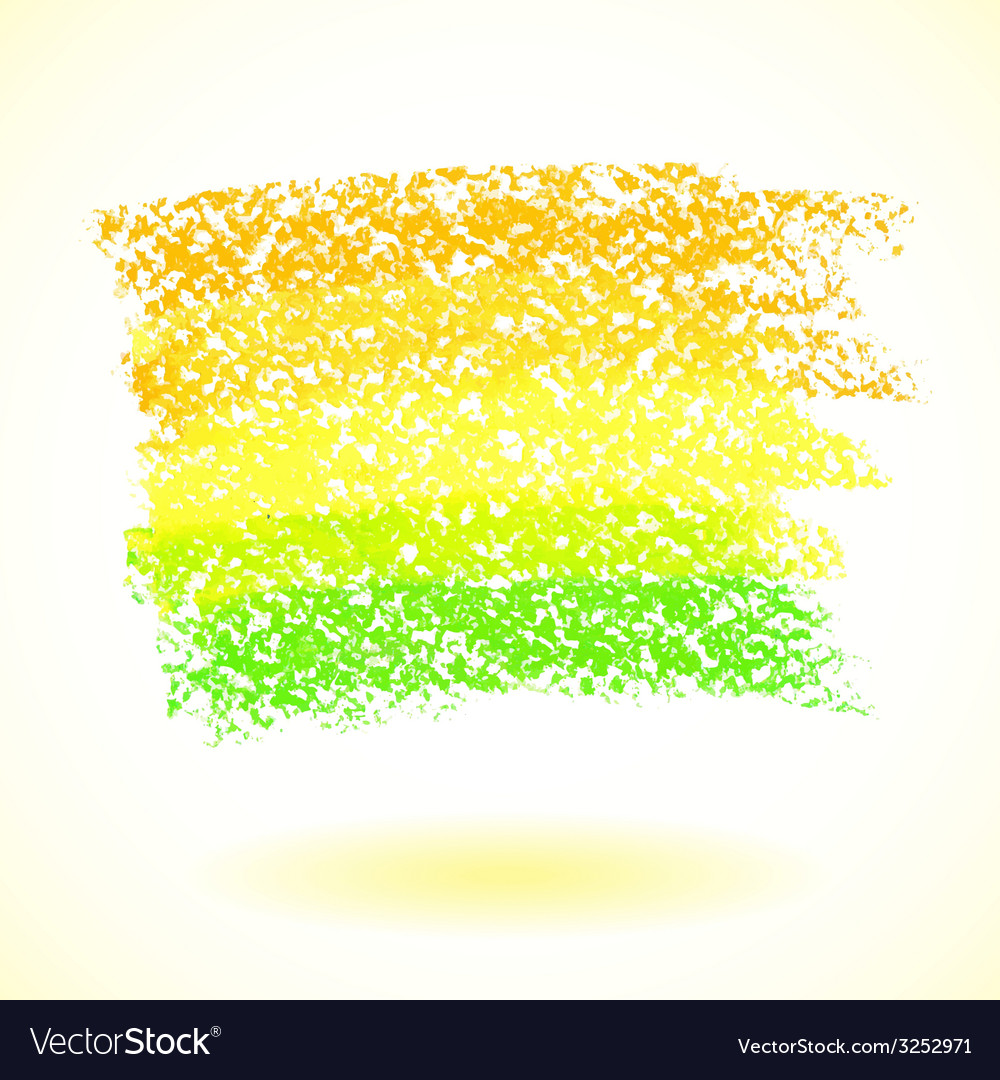 Yellow pastel crayon spot isolated on white vector | Price: 1 Credit (USD $1)