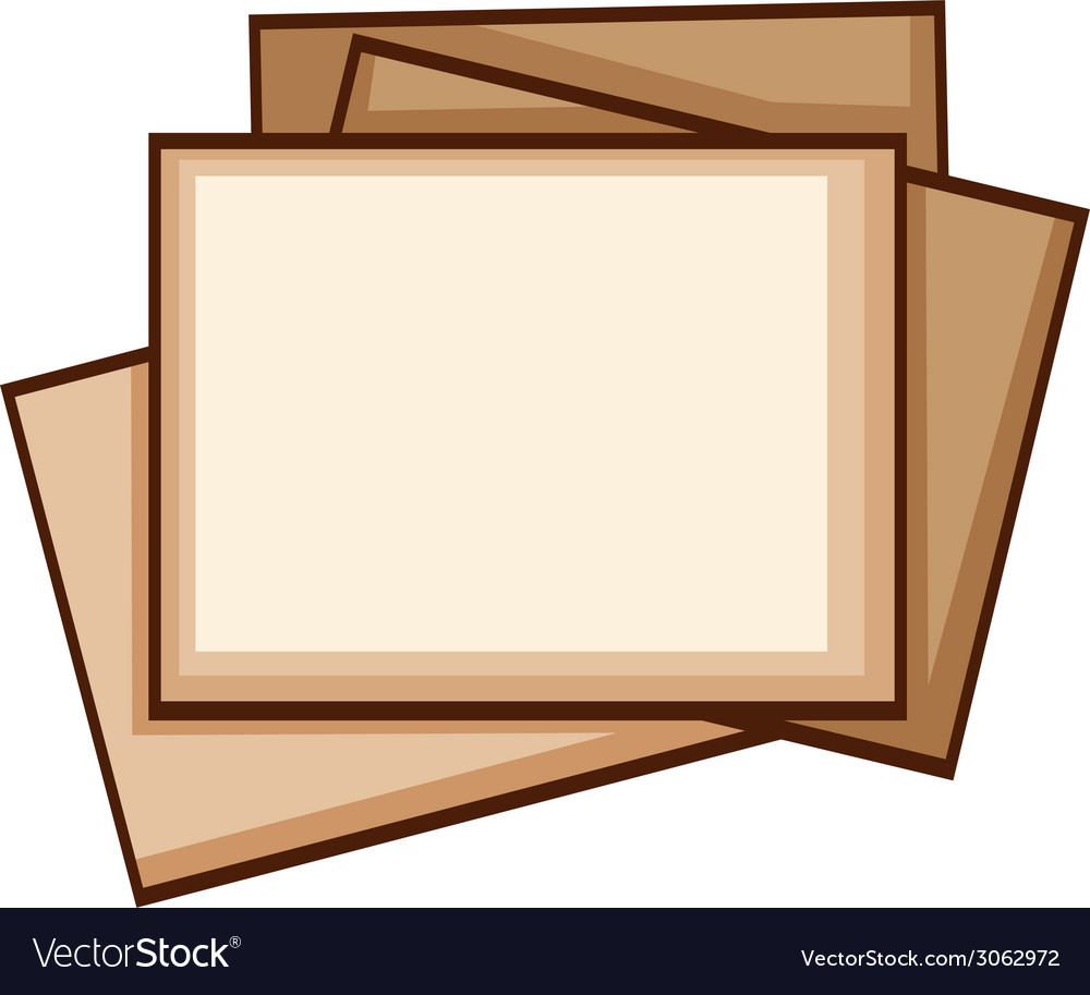 A simple coloured sketch of photo frames vector | Price: 1 Credit (USD $1)