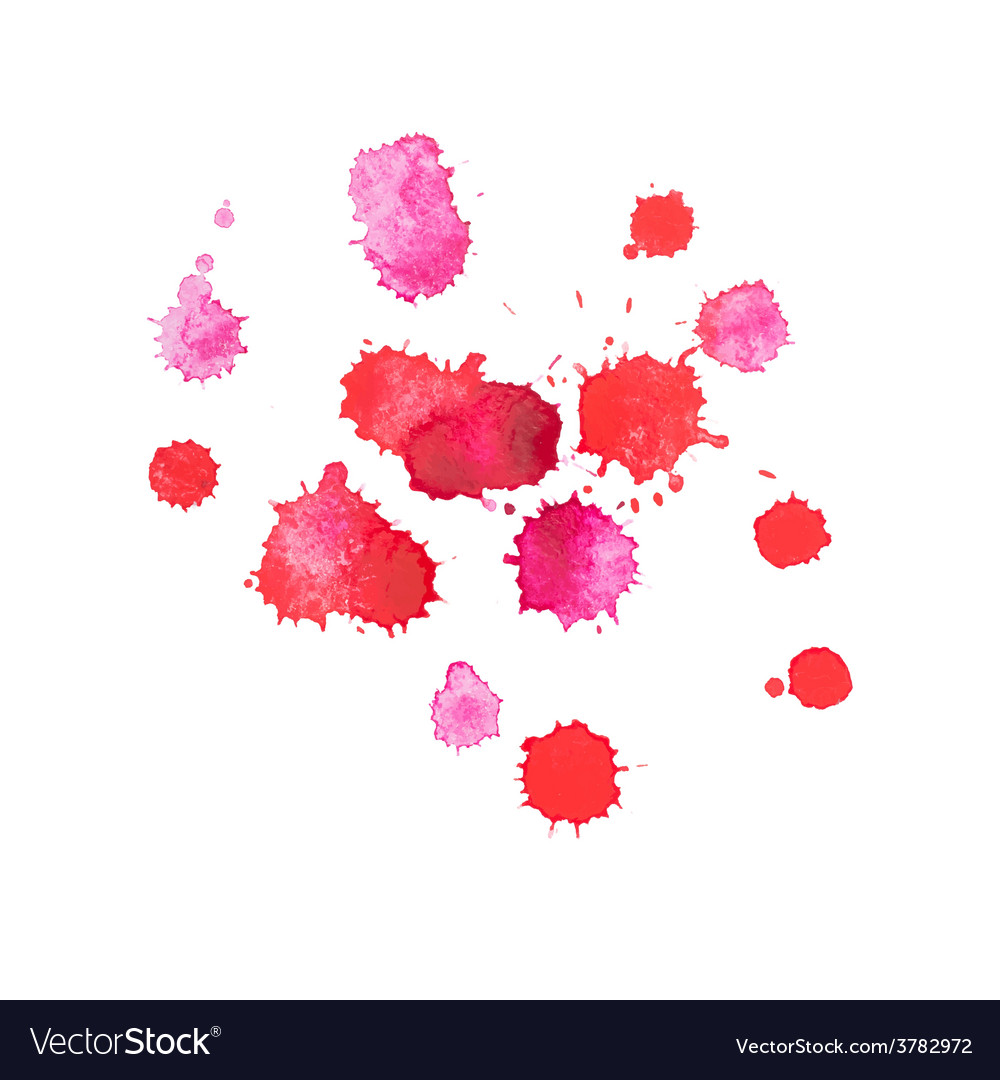 Abstract watercolor aquarelle hand drawn red drop vector | Price: 1 Credit (USD $1)