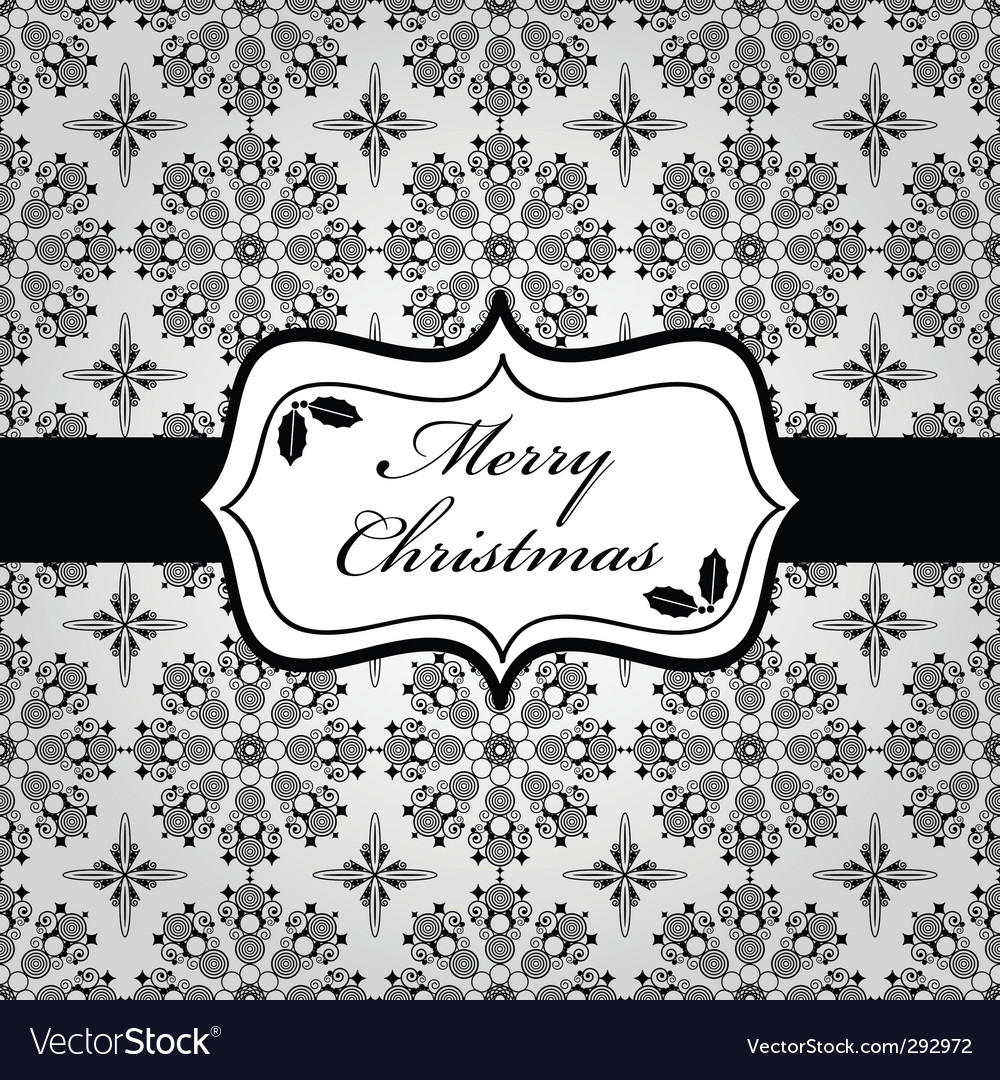 Black and white christmas wrapping vector | Price: 1 Credit (USD $1)
