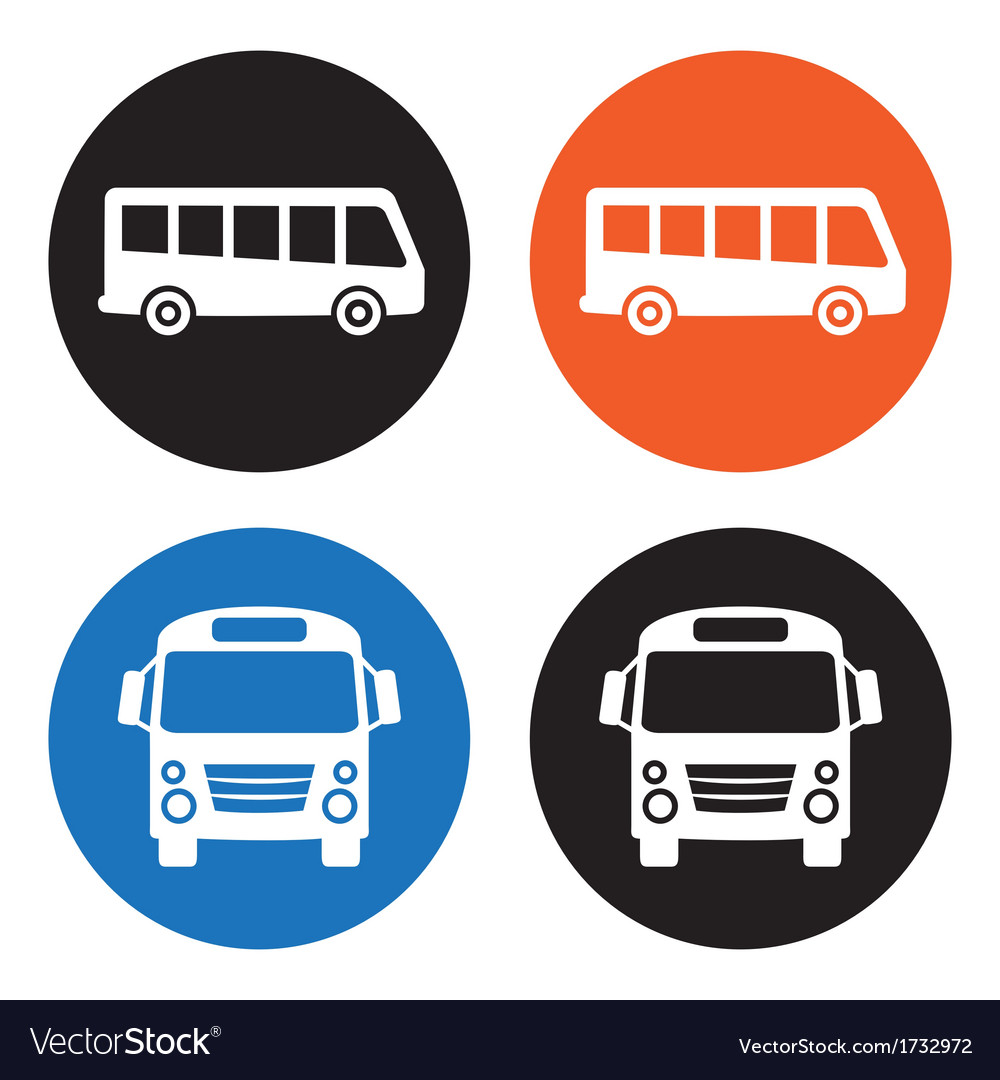 Bus icons vector | Price: 1 Credit (USD $1)