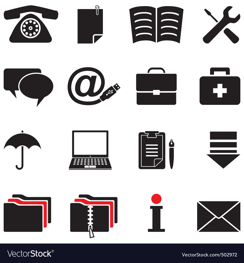 Computer icon set vector | Price: 1 Credit (USD $1)