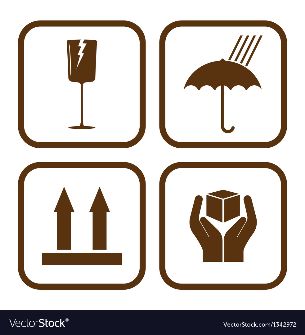 Fragile icons vector | Price: 1 Credit (USD $1)