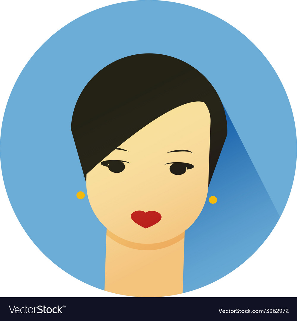 Girl with cute hair style vector   Price: 1 Credit (USD $1)