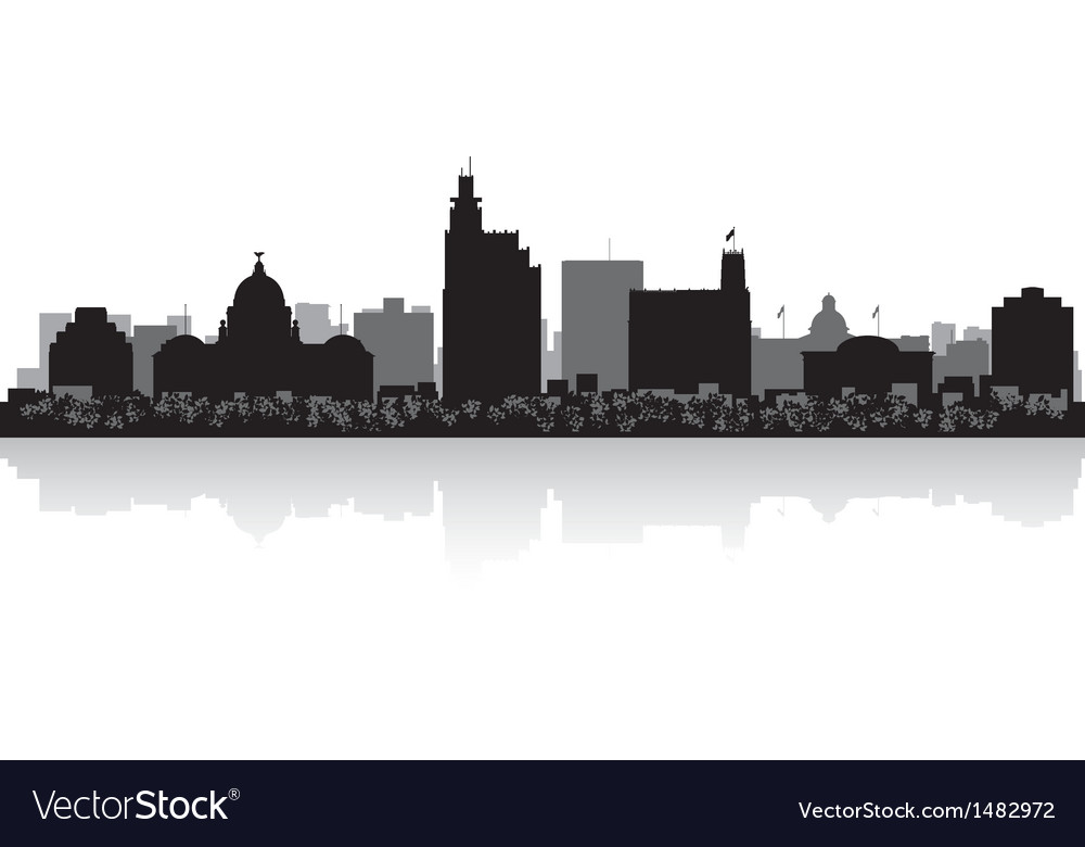 Jackson usa city skyline silhouette vector | Price: 1 Credit (USD $1)