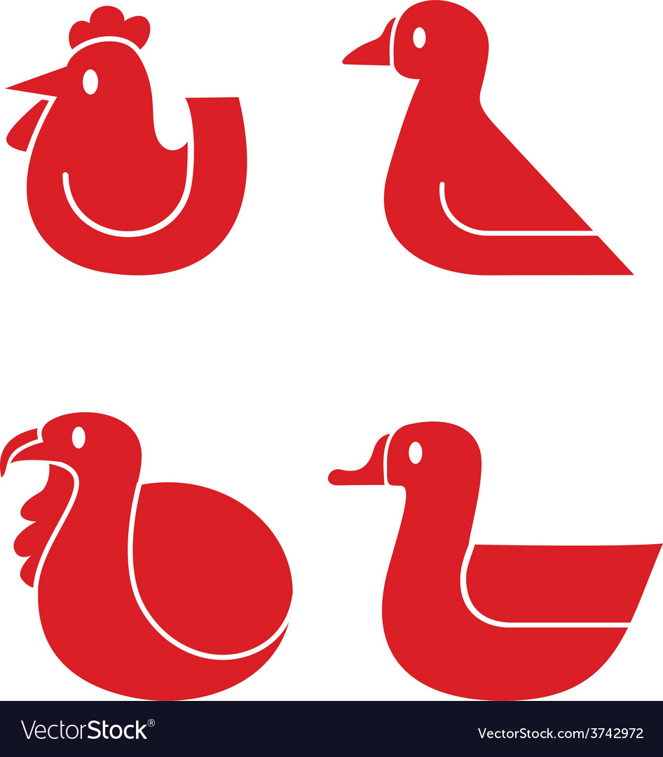 Poultry icons vector | Price: 1 Credit (USD $1)