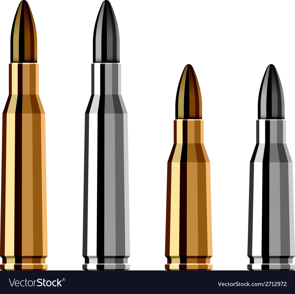 Weapon gun bullet cartridge vector | Price: 1 Credit (USD $1)