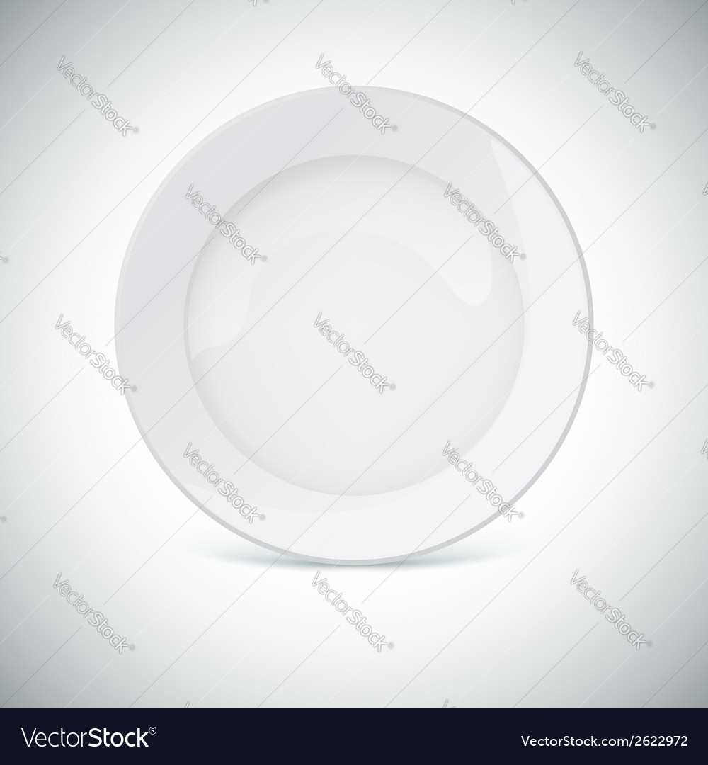 White plate with shadow vector | Price: 1 Credit (USD $1)