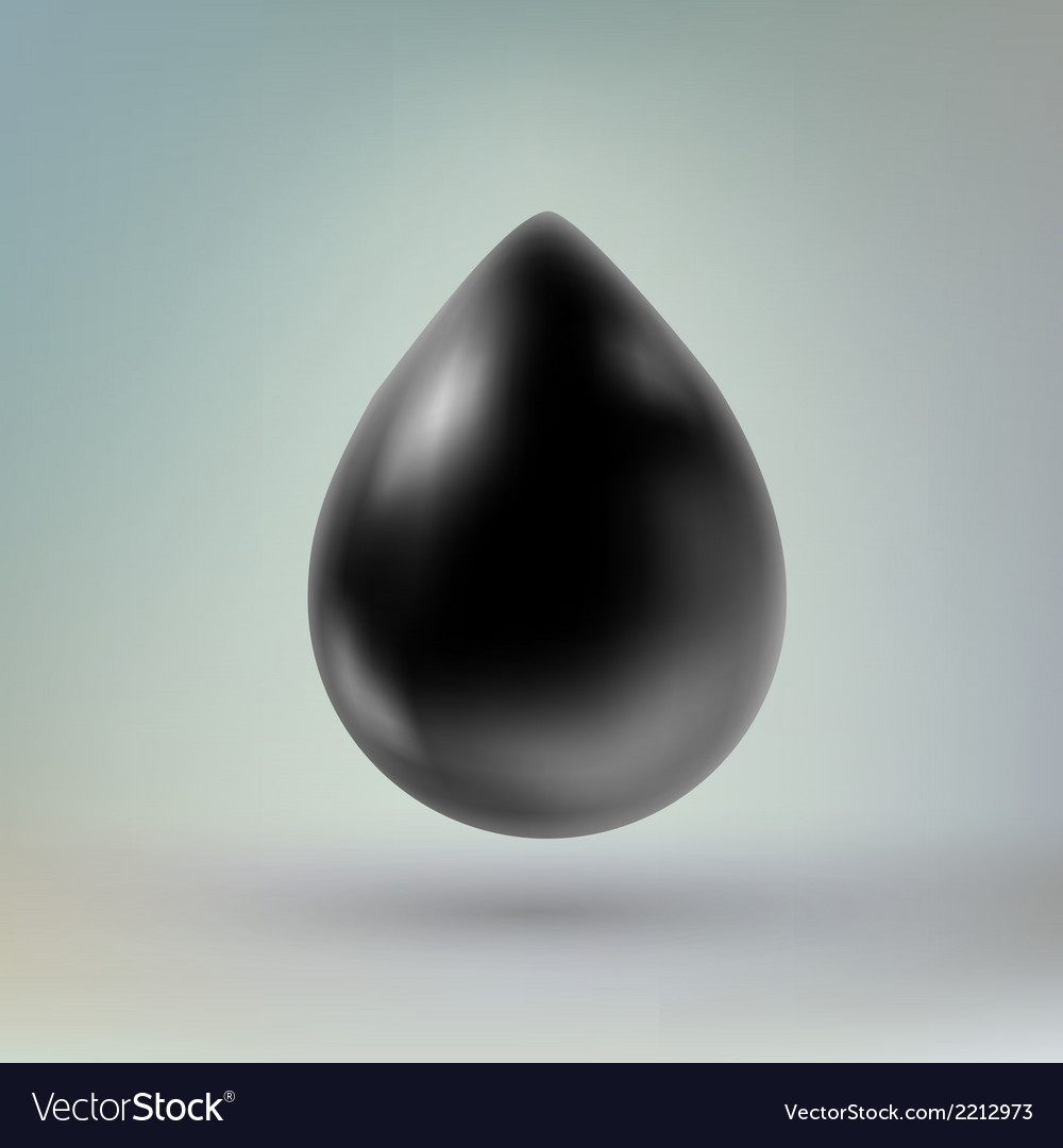 Black drop of liquid vector | Price: 1 Credit (USD $1)