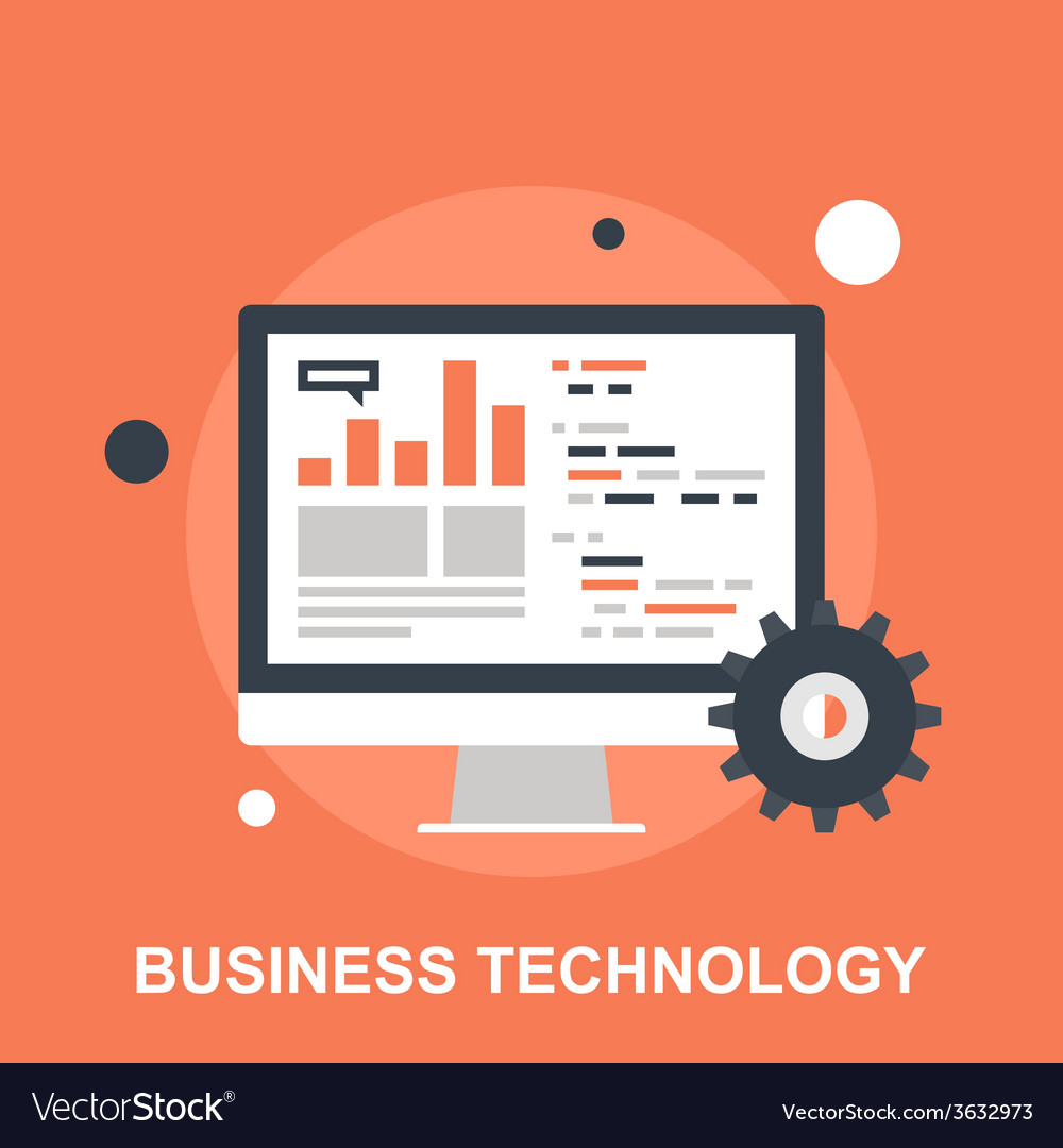 Business technology vector