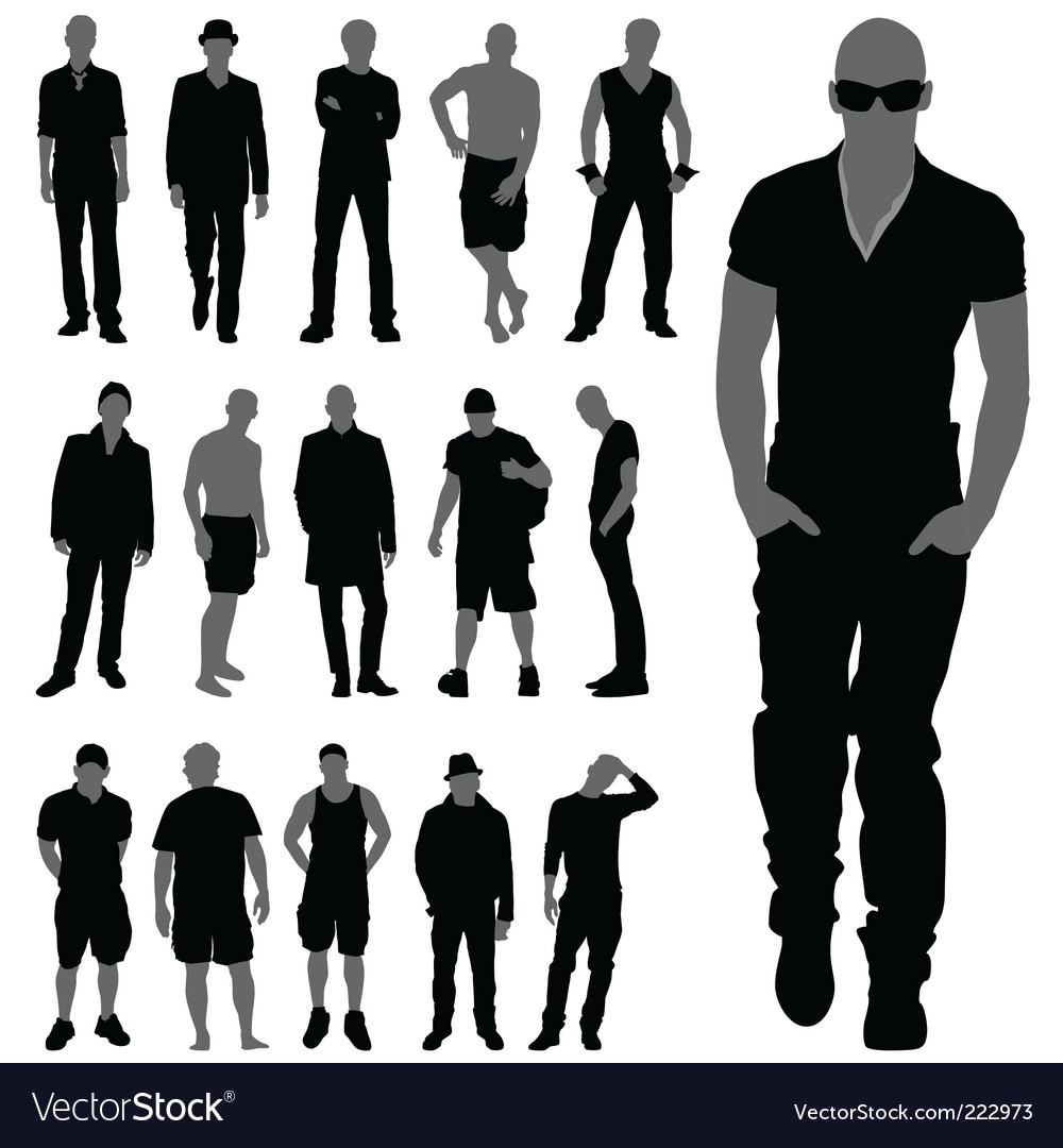 Fashion man set vector | Price: 1 Credit (USD $1)