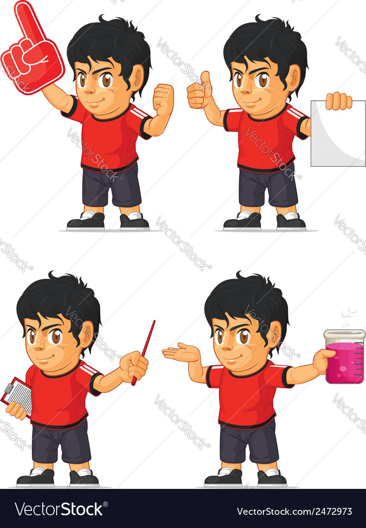 Soccer boy customizable mascot 5 vector | Price: 1 Credit (USD $1)