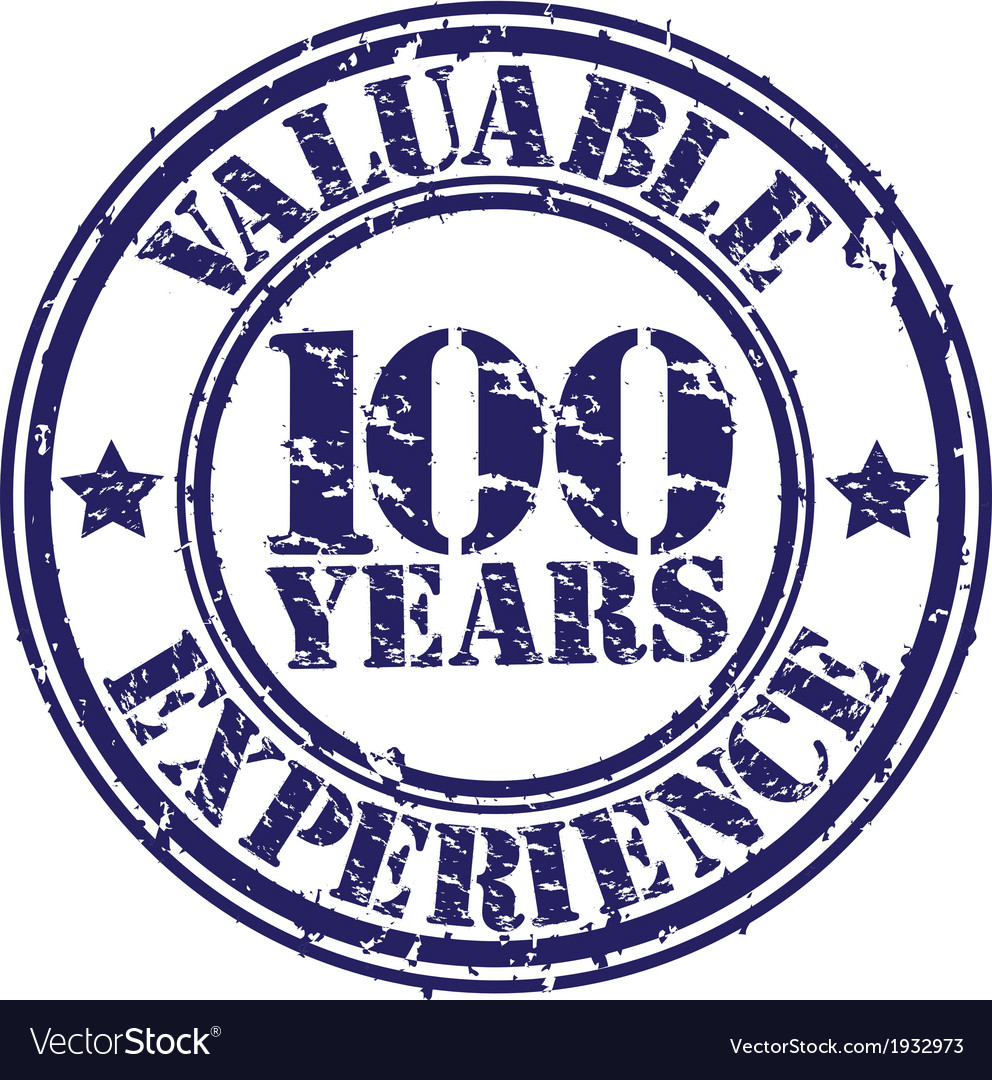 Valuable 100 years of experience rubber stamp vector   Price: 1 Credit (USD $1)