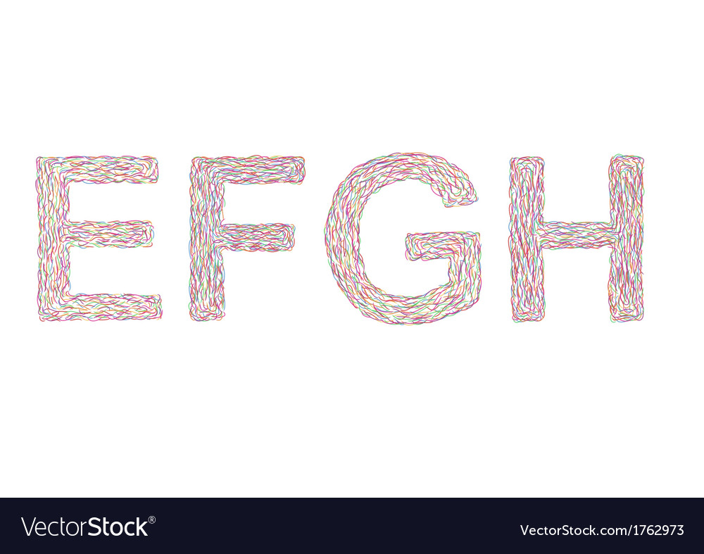 Varicolored letters e-h vector | Price: 1 Credit (USD $1)