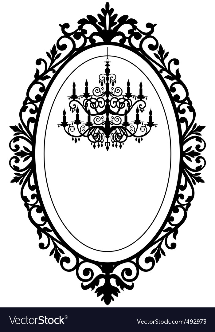 Vintage frame with chandelier vector | Price: 1 Credit (USD $1)