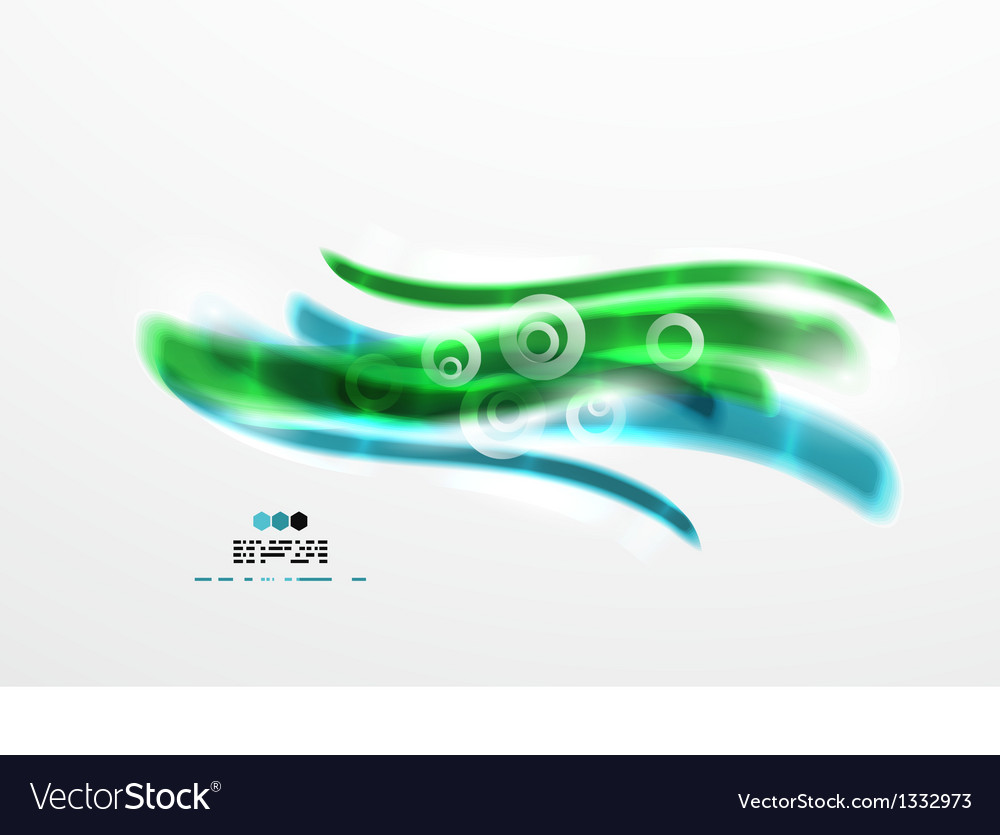 Wave abstraction design vector | Price: 1 Credit (USD $1)