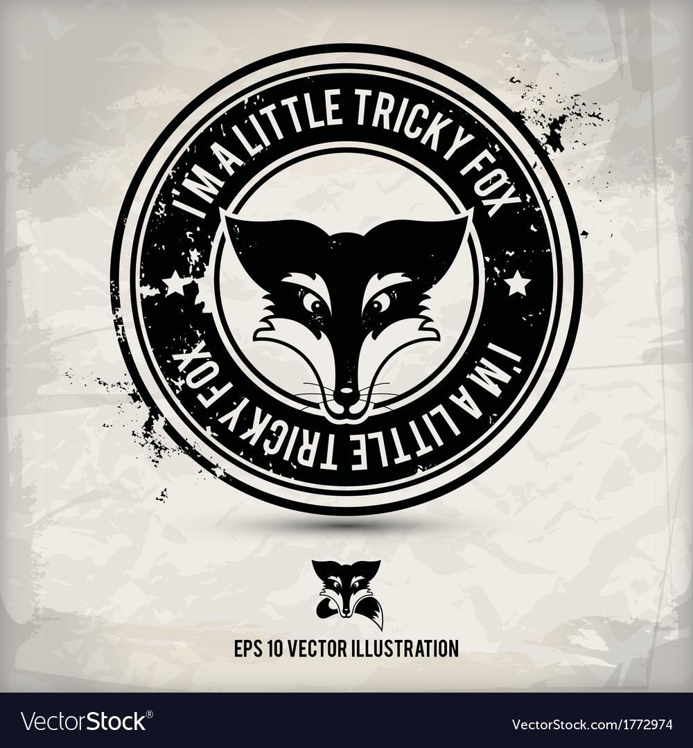 Alternative fox stamp vector | Price: 1 Credit (USD $1)