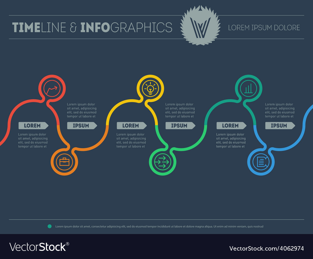 Diagram of tendencies and trends infographic vector | Price: 1 Credit (USD $1)