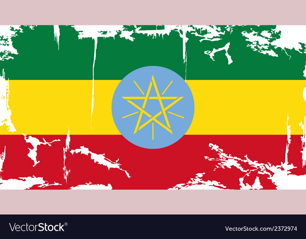 Ethiopia grunge flag vector | Price: 1 Credit (USD $1)