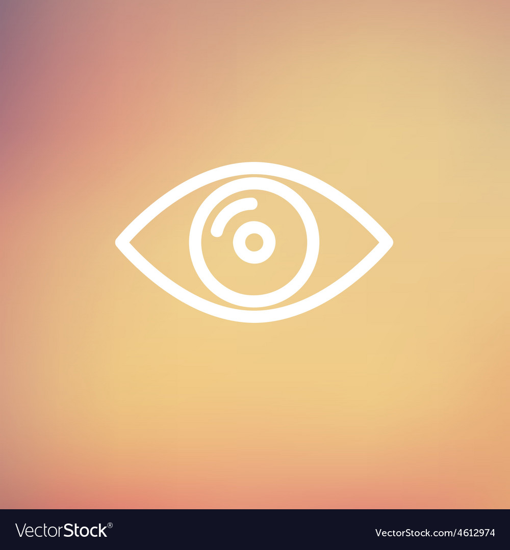Eye thin line icon vector | Price: 1 Credit (USD $1)