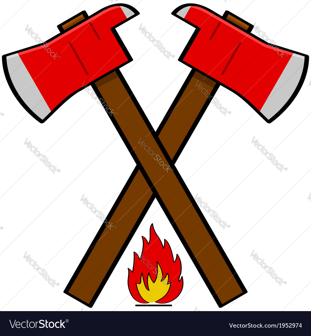 Fireman axe vector | Price: 1 Credit (USD $1)