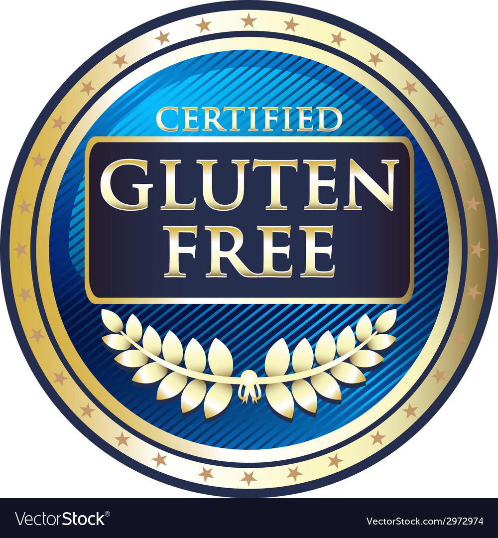 Gluten free blue label vector | Price: 1 Credit (USD $1)