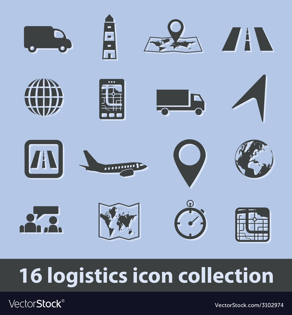 Logistic icons vector | Price: 1 Credit (USD $1)