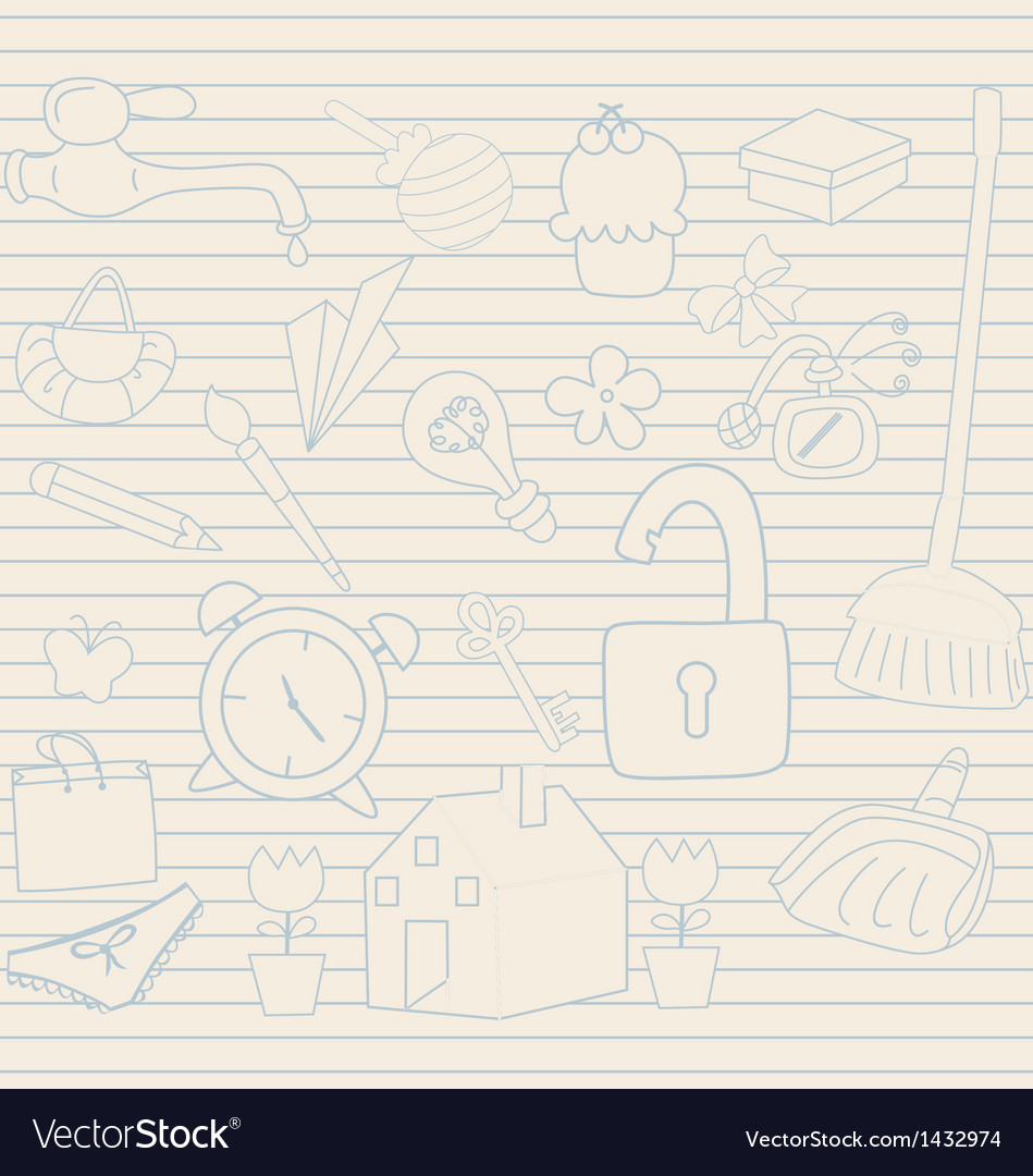 Set of household objects vector   Price: 1 Credit (USD $1)