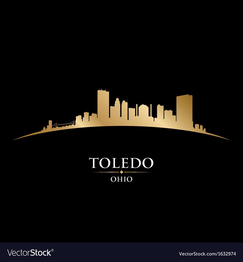 Toledo ohio city skyline silhouette vector | Price: 1 Credit (USD $1)