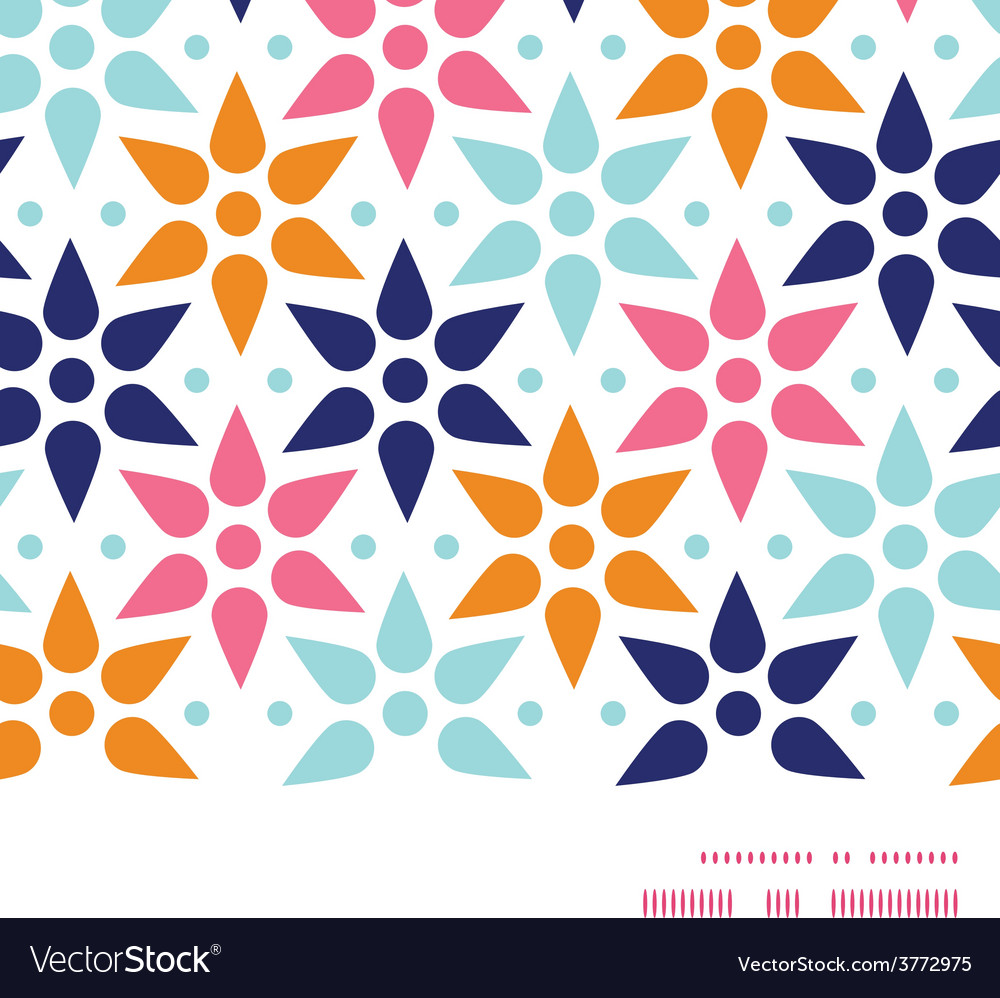 Abstract colorful stars horizontal frame vector | Price: 1 Credit (USD $1)