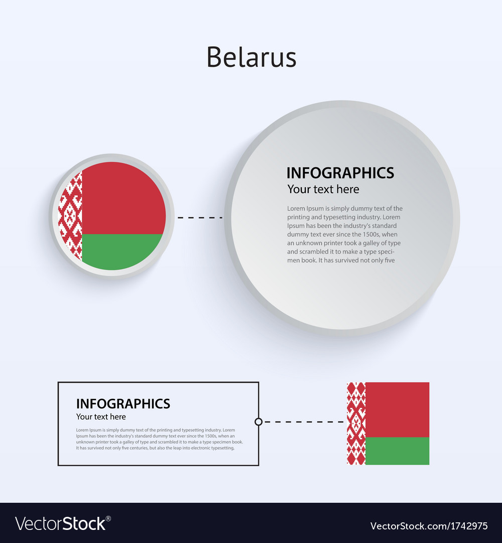 Belarus country set of banners vector | Price: 1 Credit (USD $1)
