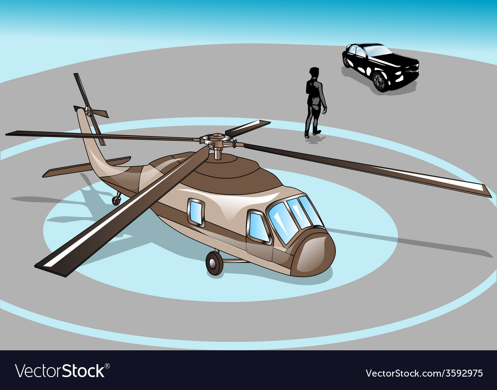 Business man and helicopter vector | Price: 1 Credit (USD $1)