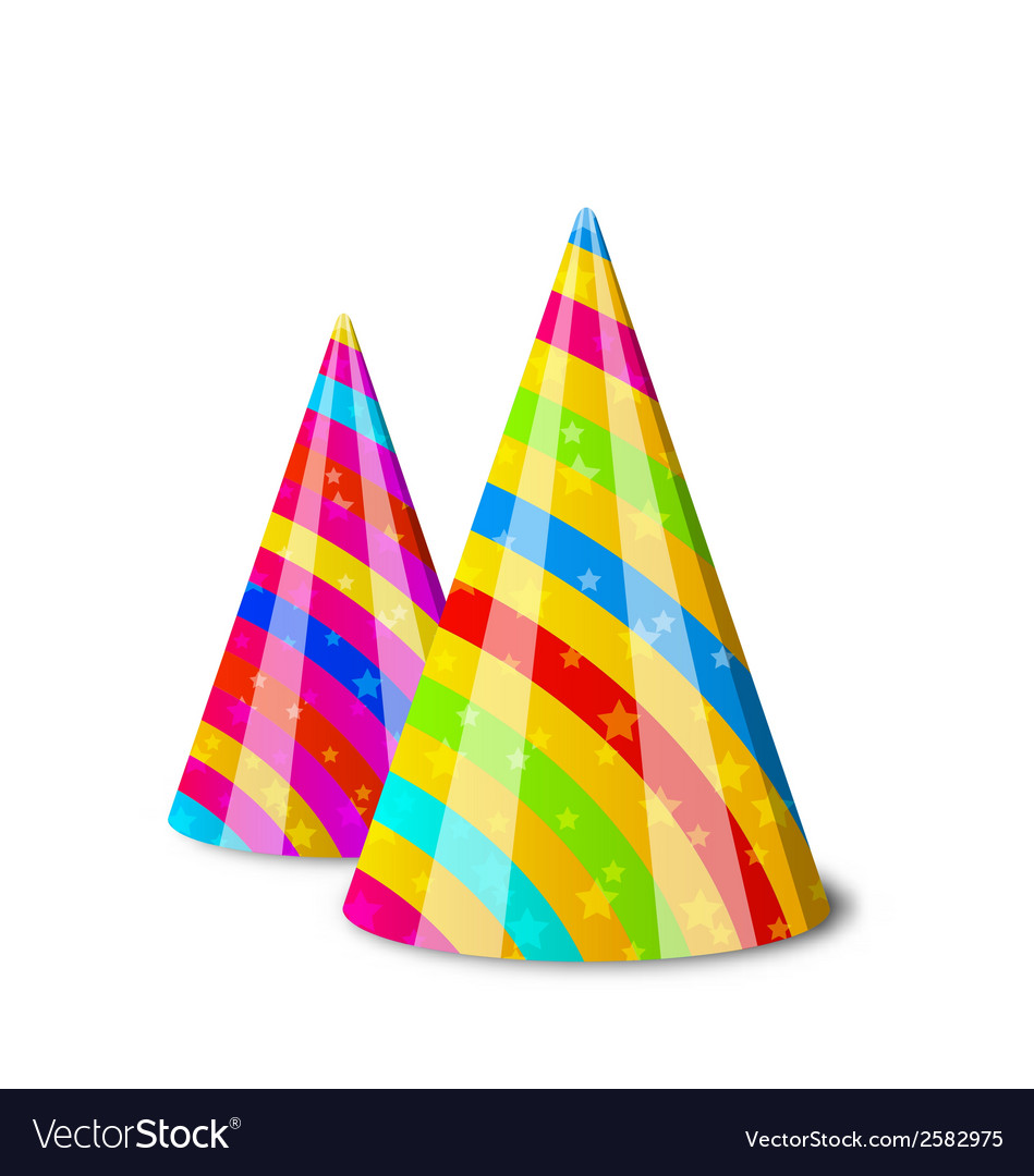 Colorful party hats for your holiday isolated on vector | Price: 1 Credit (USD $1)