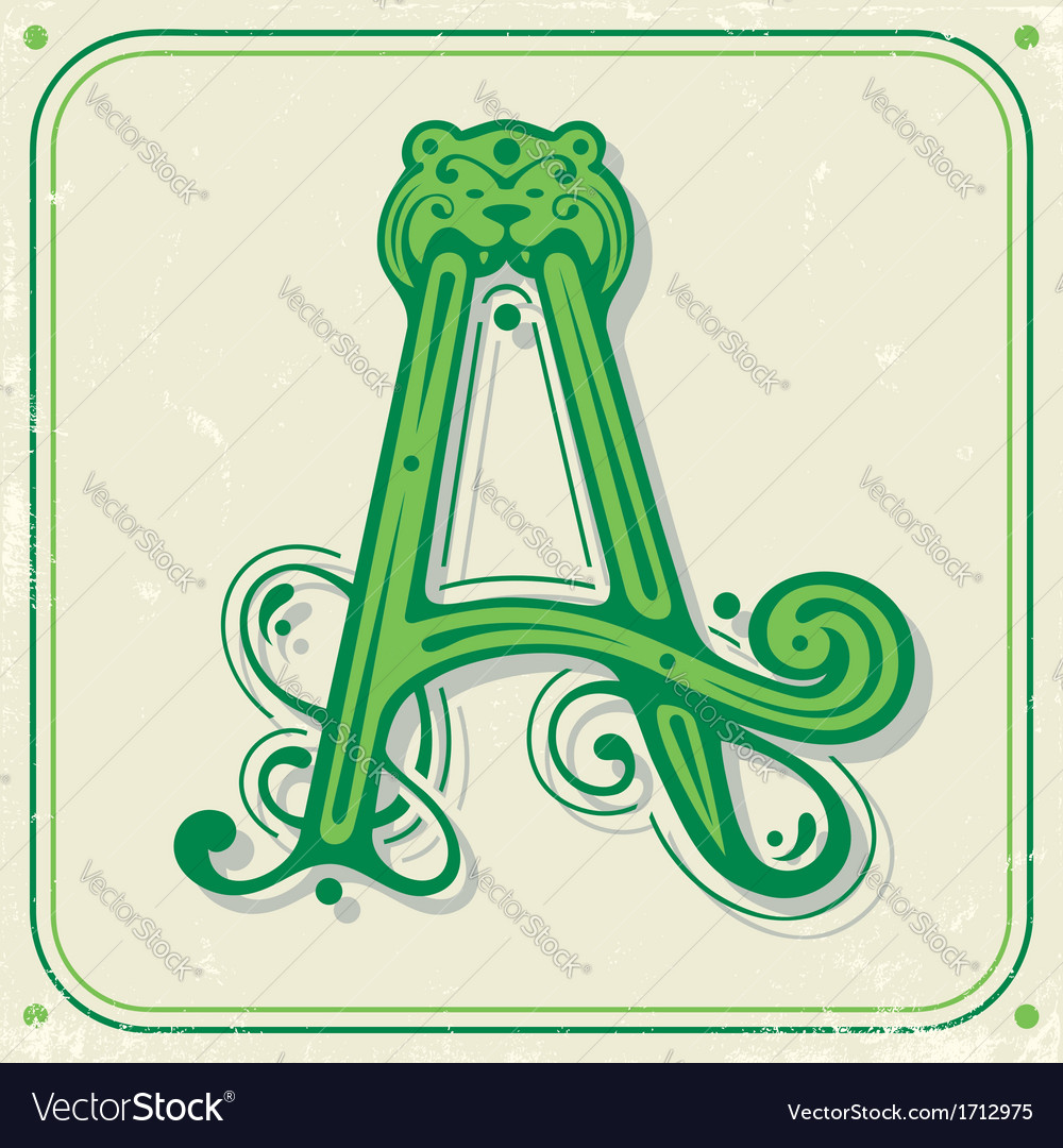 Green initial a vector | Price: 1 Credit (USD $1)