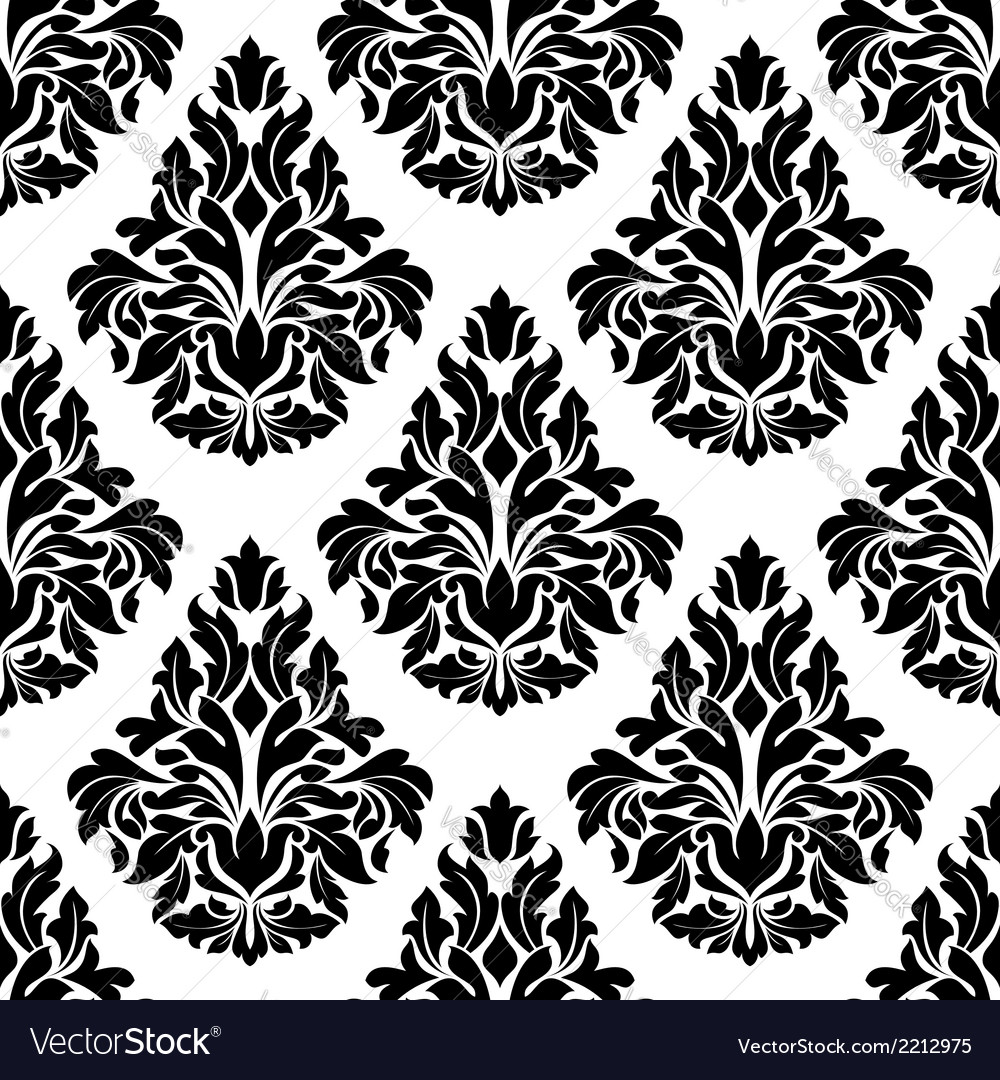 Intricate black and white arabesque design vector | Price: 1 Credit (USD $1)