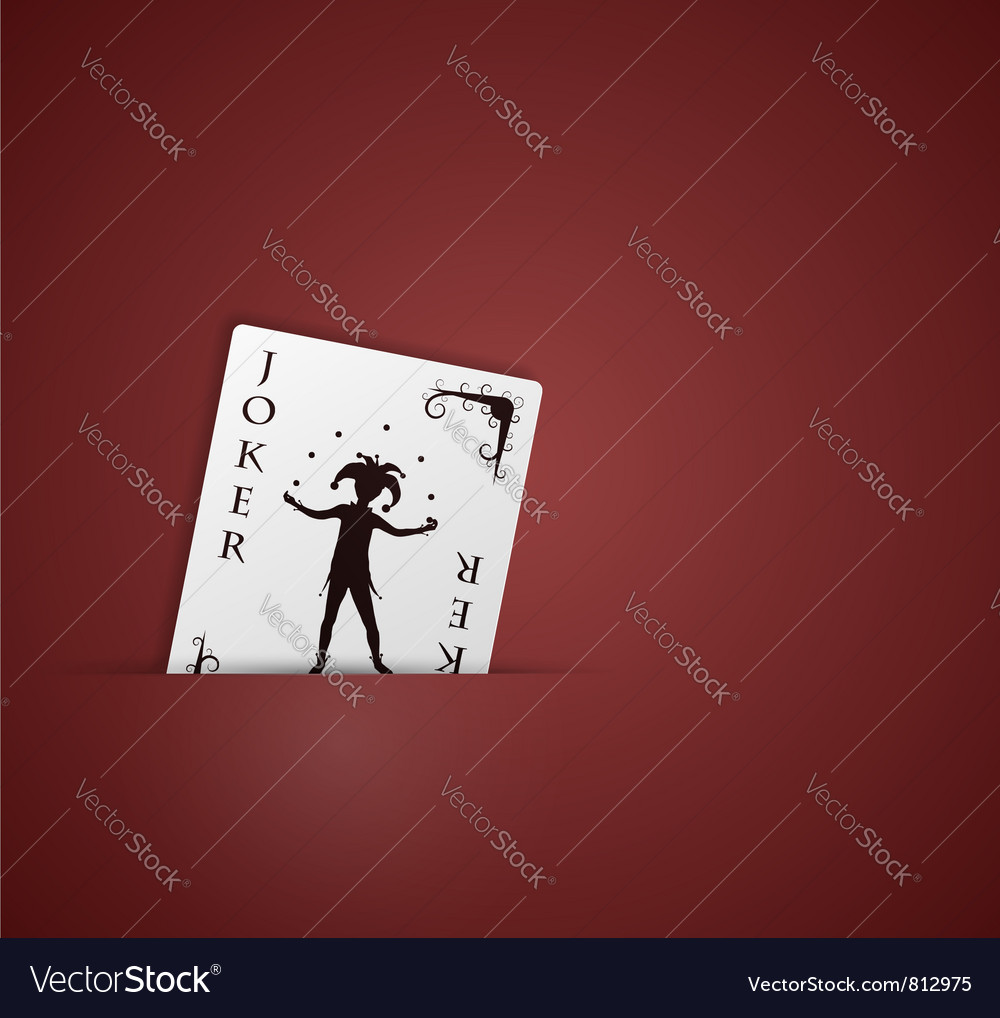 Joker in pocket vector | Price: 1 Credit (USD $1)